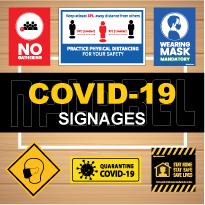 COVID19 Signages