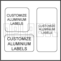 1625xx Customize Square / Rectangular Metal Labels