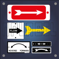 Directional Arrow Labels & Stickers