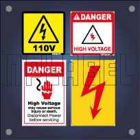Electrical Shock & High Voltage Labels