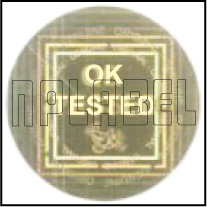 HG0015 OK Tested - QC Passed Hologram Sticker