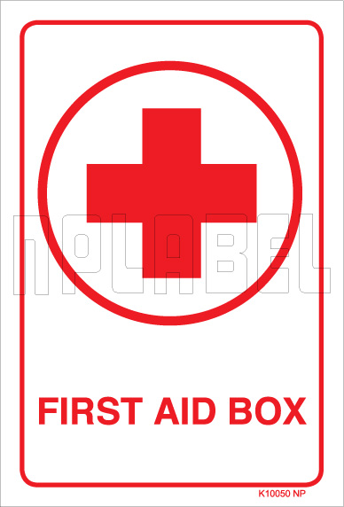 K10050 First Aid Sign Sticker