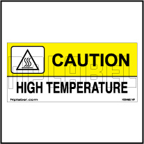 K20485 High Temperature Caution Signs Stickers