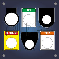 Labels & Stickers for Push Button - Bulb Indictor