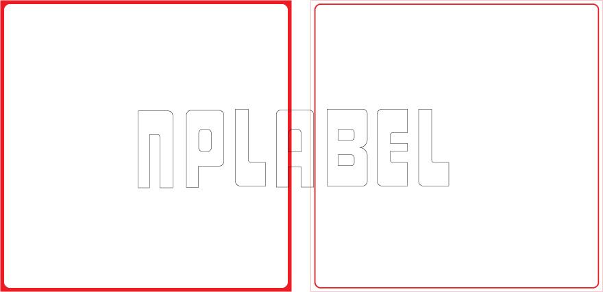 ML150150 General Purpose Sticker Size 150x150mm