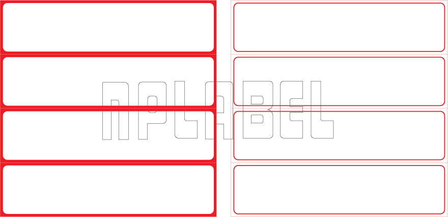 ML15037 General Purpose Sticker Size 150x37.5mm