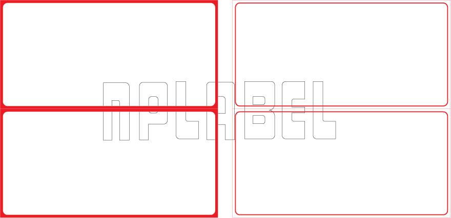 ML15075 General Purpose Sticker Size 150x75mm
