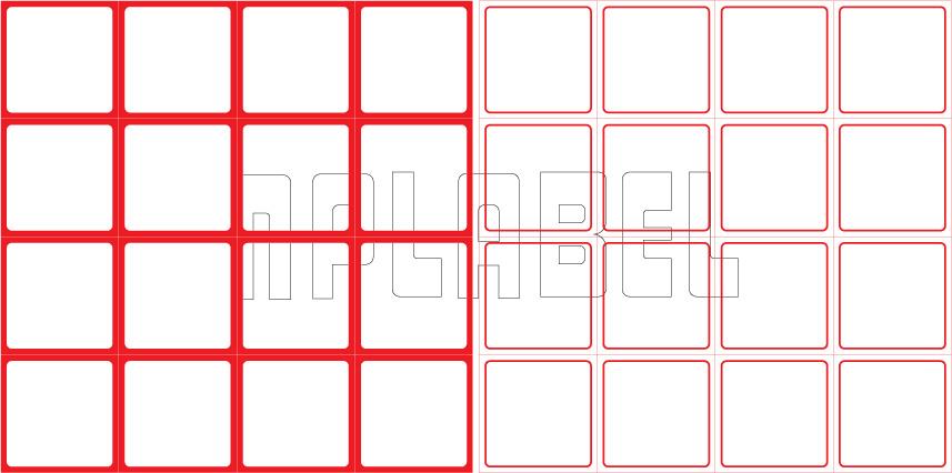 ML3737 General Purpose Sticker Size 37.5x37.5mm