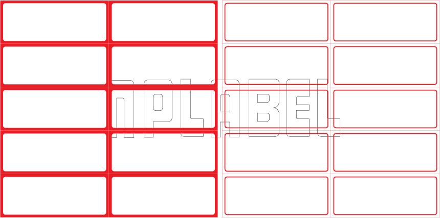 ML7530 General Purpose Sticker Size 75x30mm
