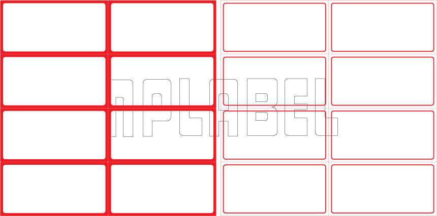 ML7537 General Purpose Sticker Size 75x37.5mm