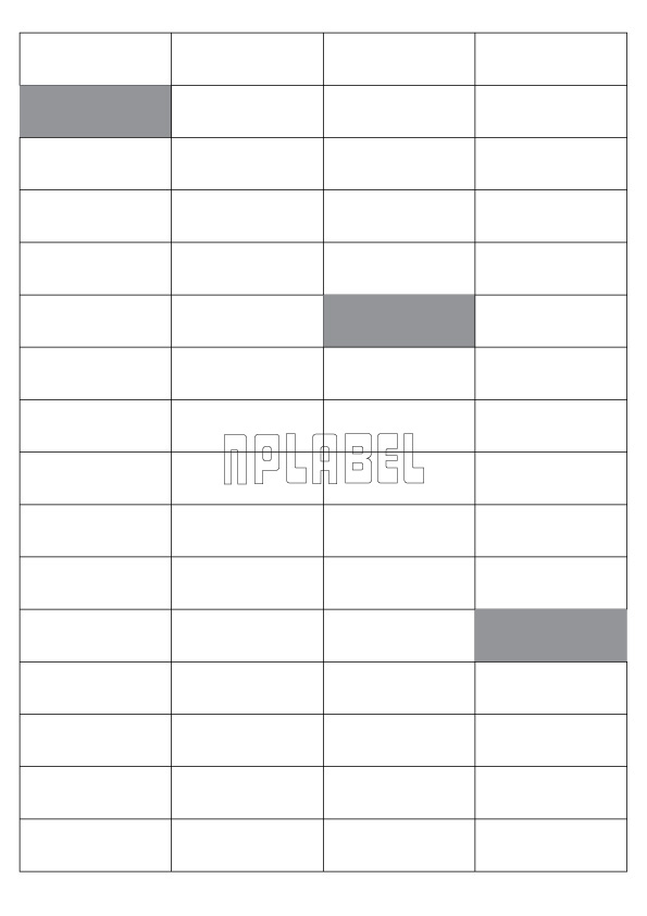GU4064M Multipurpose Sticker A4 Sheets