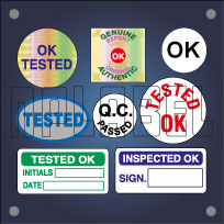 OK Tested & QC Stickers