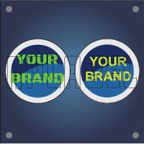 Round Shape PU Coating - Dome Stickers