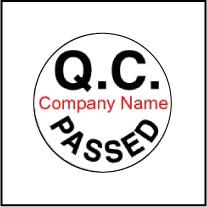 Customize Q.C. PASSED Sticker - Template QC001