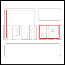 General Purpose Blank Sticker With Rounded Corner