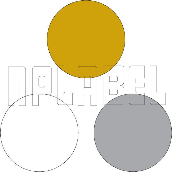 General Purpose Blank Round Stickers