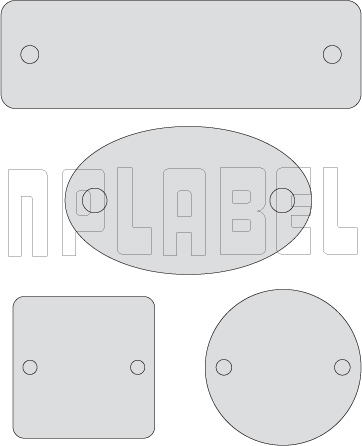 Blank Stainless steel tags