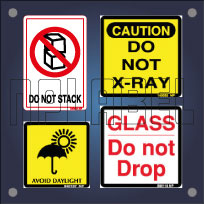 Safety Sign Labels for Shipping