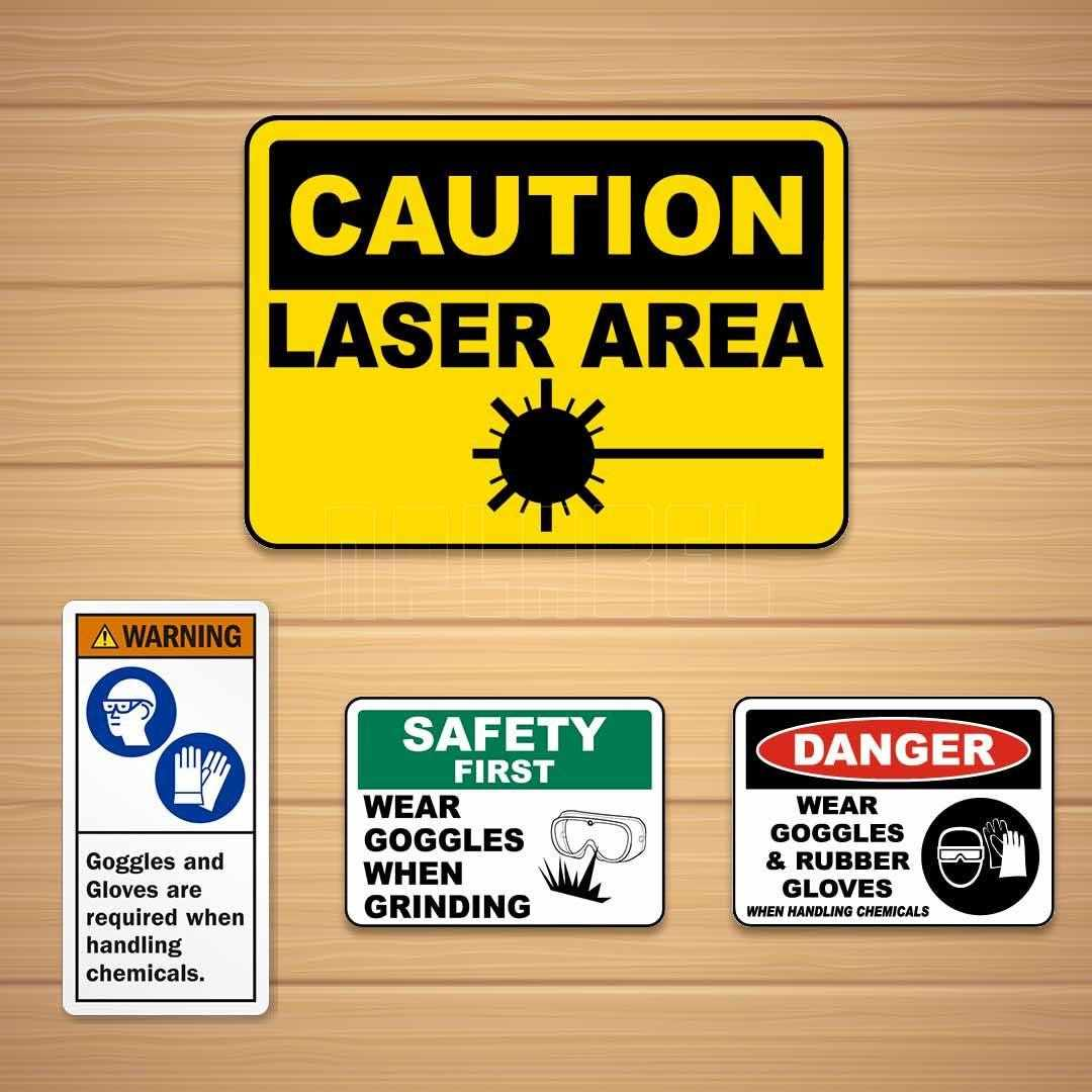 Industrial Caution and Warning Signage & Labels